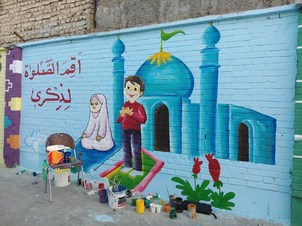 نقاشی دیواری و شاداب سازی مدارس
